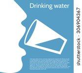 drinking water | Shutterstock .eps vector #306904367