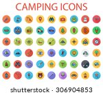 camping icons set. flat vector... | Shutterstock .eps vector #306904853