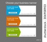 responsive web banner for... | Shutterstock .eps vector #306908903