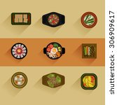 food illustration korean food... | Shutterstock .eps vector #306909617