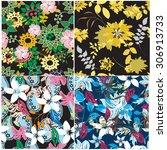 floral seamless pattern  ... | Shutterstock .eps vector #306913733
