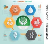 ecology concept info graphic... | Shutterstock .eps vector #306914333