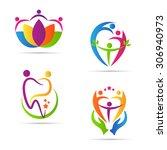 care people logo vector design... | Shutterstock .eps vector #306940973