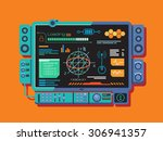 abstract control panel with a... | Shutterstock .eps vector #306941357