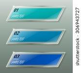 glass framework design set.... | Shutterstock .eps vector #306943727