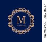 elegant monogram design... | Shutterstock .eps vector #306948257