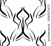 abstract black and white vector ... | Shutterstock .eps vector #306957473