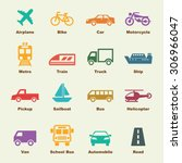 transportation elements  vector ... | Shutterstock .eps vector #306966047
