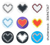set of heart icons in different ... | Shutterstock .eps vector #306967367