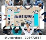 human resources career hiring... | Shutterstock . vector #306972557