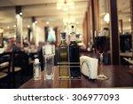 italian restaurant serving... | Shutterstock . vector #306977093