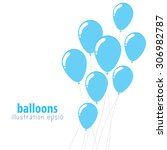 background with balloons  party ...