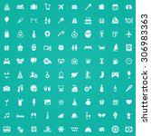 holiday 100 icons universal set