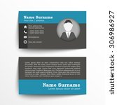 modern simple business card set ... | Shutterstock .eps vector #306986927