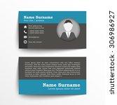 modern simple business card set ... | Shutterstock .eps vector #306986927