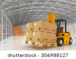 warehouse logistics  packages... | Shutterstock . vector #306988127