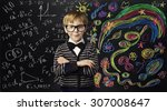 kid creativity education... | Shutterstock . vector #307008647