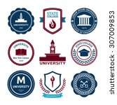 university and college school... | Shutterstock .eps vector #307009853