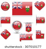 ontario flag collection | Shutterstock .eps vector #307010177