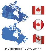 high detailed map of canada... | Shutterstock .eps vector #307010447
