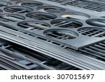 metal sheets cutted by laser | Shutterstock . vector #307015697