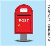 post box  vector | Shutterstock .eps vector #307018463