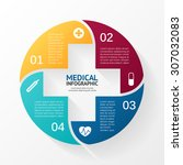 vector circle plus sign... | Shutterstock .eps vector #307032083