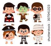 set of cartoon characters for... | Shutterstock .eps vector #307041323