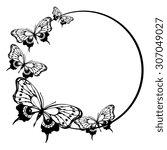 butterflies design | Shutterstock .eps vector #307049027