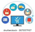 purchases  purchases over the... | Shutterstock .eps vector #307057937