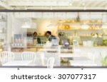blurred coffee shop for...   Shutterstock . vector #307077317