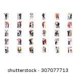isolated groups united company  | Shutterstock . vector #307077713