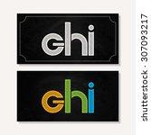 letter g h i logo alphabet...   Shutterstock .eps vector #307093217