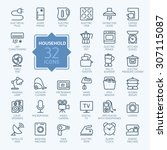 outline icon collection  ... | Shutterstock .eps vector #307115087