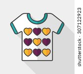 valentine's day clothes flat... | Shutterstock .eps vector #307122923