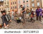 krakow  poland   jul 12  2015 ... | Shutterstock . vector #307138913