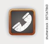 doodle phone | Shutterstock .eps vector #307167863
