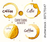 coffee stains set | Shutterstock .eps vector #307175147