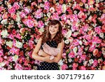 beautiful preteen girl model is ... | Shutterstock . vector #307179167