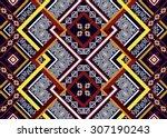 geometric ethnic pattern... | Shutterstock .eps vector #307190243