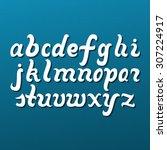 lowercase alphabet letters.... | Shutterstock .eps vector #307224917