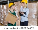 conversation between blue... | Shutterstock . vector #307226993