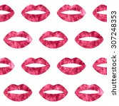 Red Woman Lips Seamless Patter...