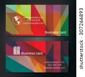 stylish business cards with...   Shutterstock .eps vector #307266893
