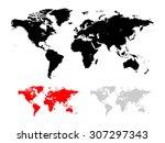 world map vector illustration... | Shutterstock .eps vector #307297343