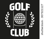 golf club labels with sample... | Shutterstock .eps vector #307321127