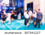 abstract blurred people in... | Shutterstock . vector #307341227