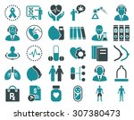 medical icon set. these flat... | Shutterstock . vector #307380473