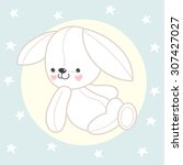 drawing of toy bunny | Shutterstock .eps vector #307427027