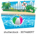 beach ball splash | Shutterstock .eps vector #307468097